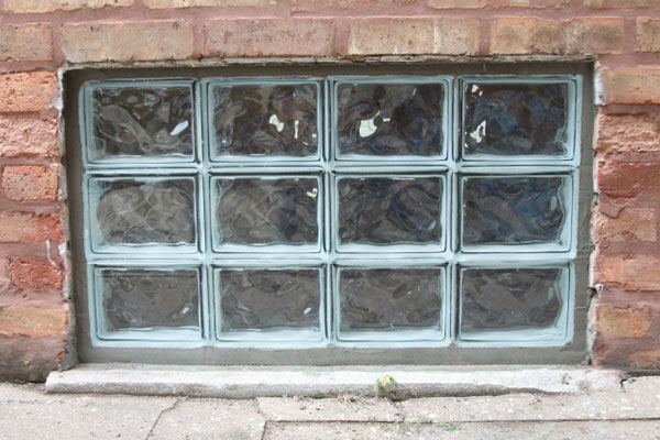 Basement window replacement services b dry louisville for Plastic glass block windows