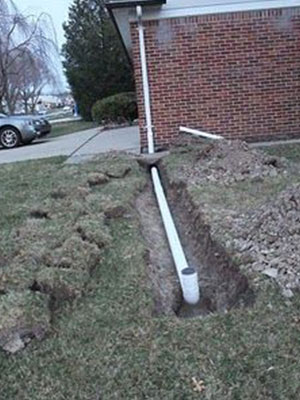 French Drain And Drain Tile Yard Drainage B Dry Louisville